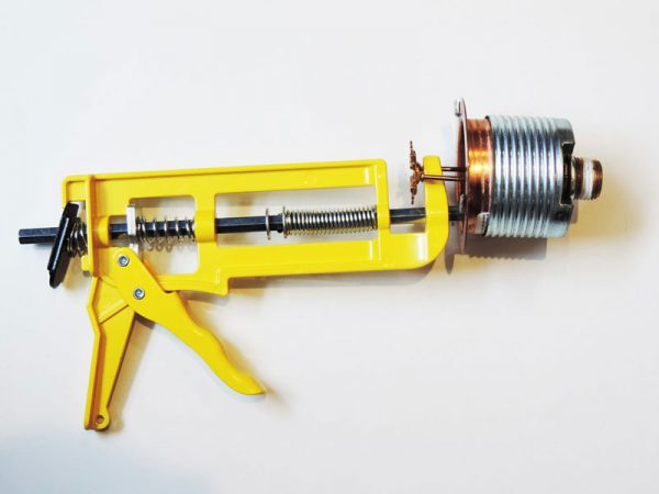 Shutgun for concealed water sprinkler heads attached to an unmounted sprinkler