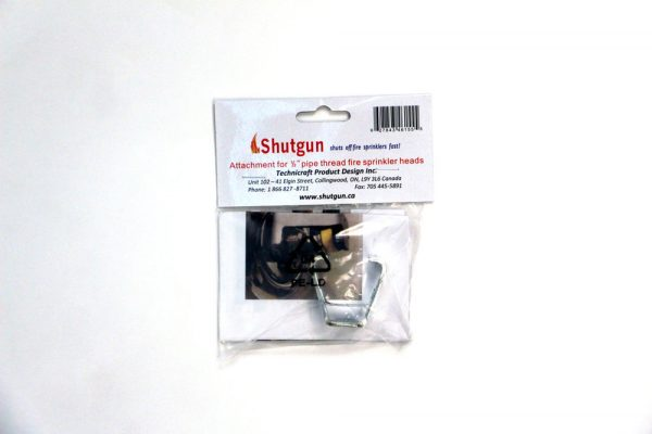 "Packaging for 1/2"" attachment for Shutgun sprinkler stopper"