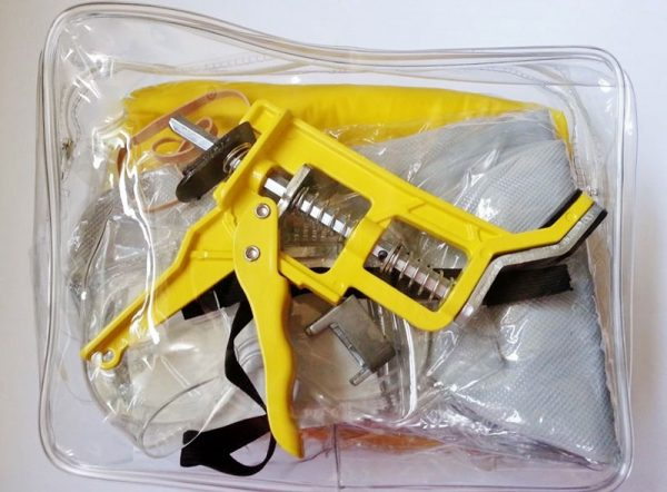 Water protection kit with half inch sheared head attachment and Shutgun